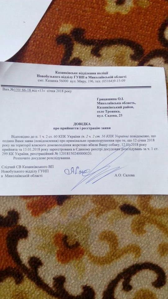 В Николаевской области две женщины закололи собаку соседей вилами (фото) 18+