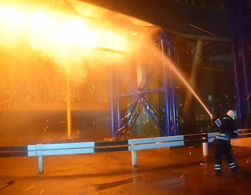 Пожар на ленточном конвейере купить двигатель бу дизель для фольксваген транспортер