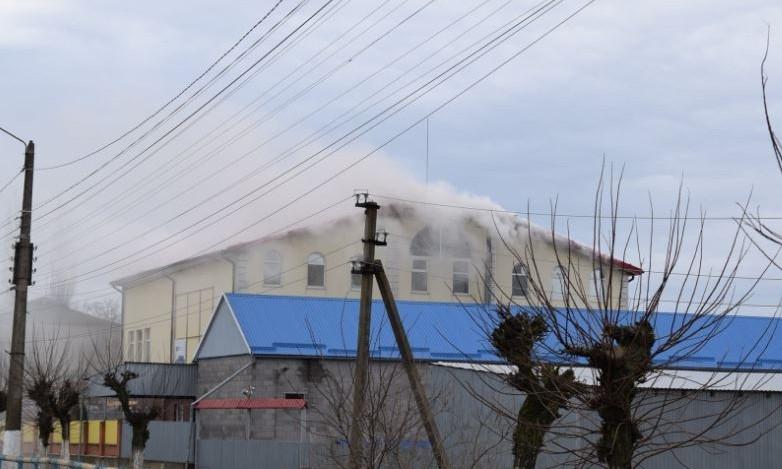 В Баштанке сегодня загорелся торговый центр